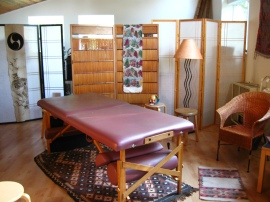 inside the studio for treatment and study